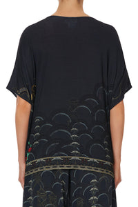 LOOSE ROUND NECK TEE WISE WINGS
