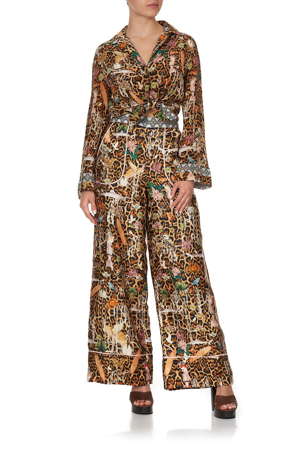 LOUNGE TROUSER WITH CUFFS FAUNA ELECTRO