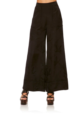 6cd47b116f4 LOUNGE TROUSER WITH CUFFS SOLID BLACK LOUNGE TROUSER W  CUFFSSOLID BLACK