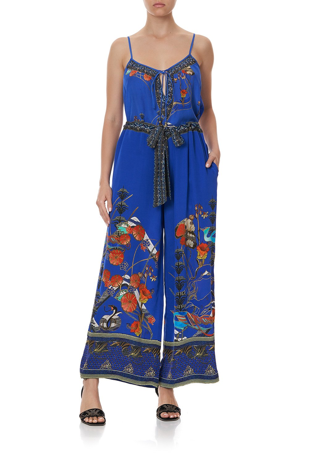 LOUNGE TROUSER WITH TIE WAIST TREE OF LIFE