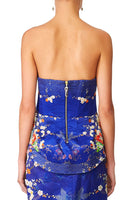 CAMILLA MAIKOS MIDNIGHT CURVED HEM ZIP DETAIL CORSET