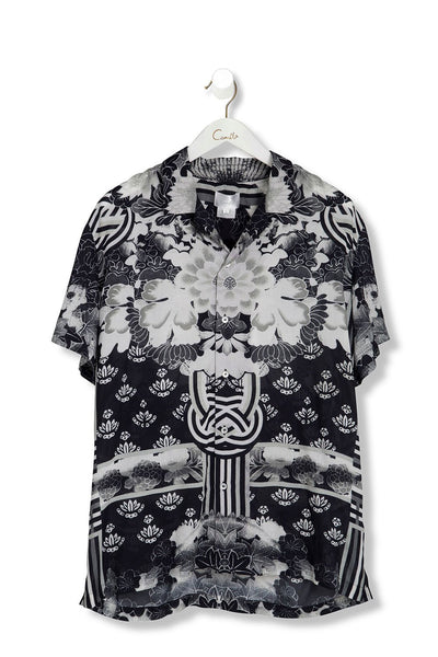 CAMILLA WILD MOONCHILD MENS SHORT SLV SHIRT
