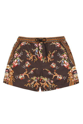 ELASTIC WAIST BOARDSHORT FRIEND IN FLORA