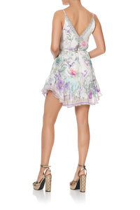 MINI DRESS WITH RUFFLE HEM FOREVER FAR