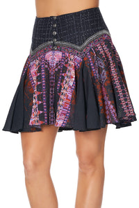 MINI SKIRT WITH SHAPED YOKE MINA MINA