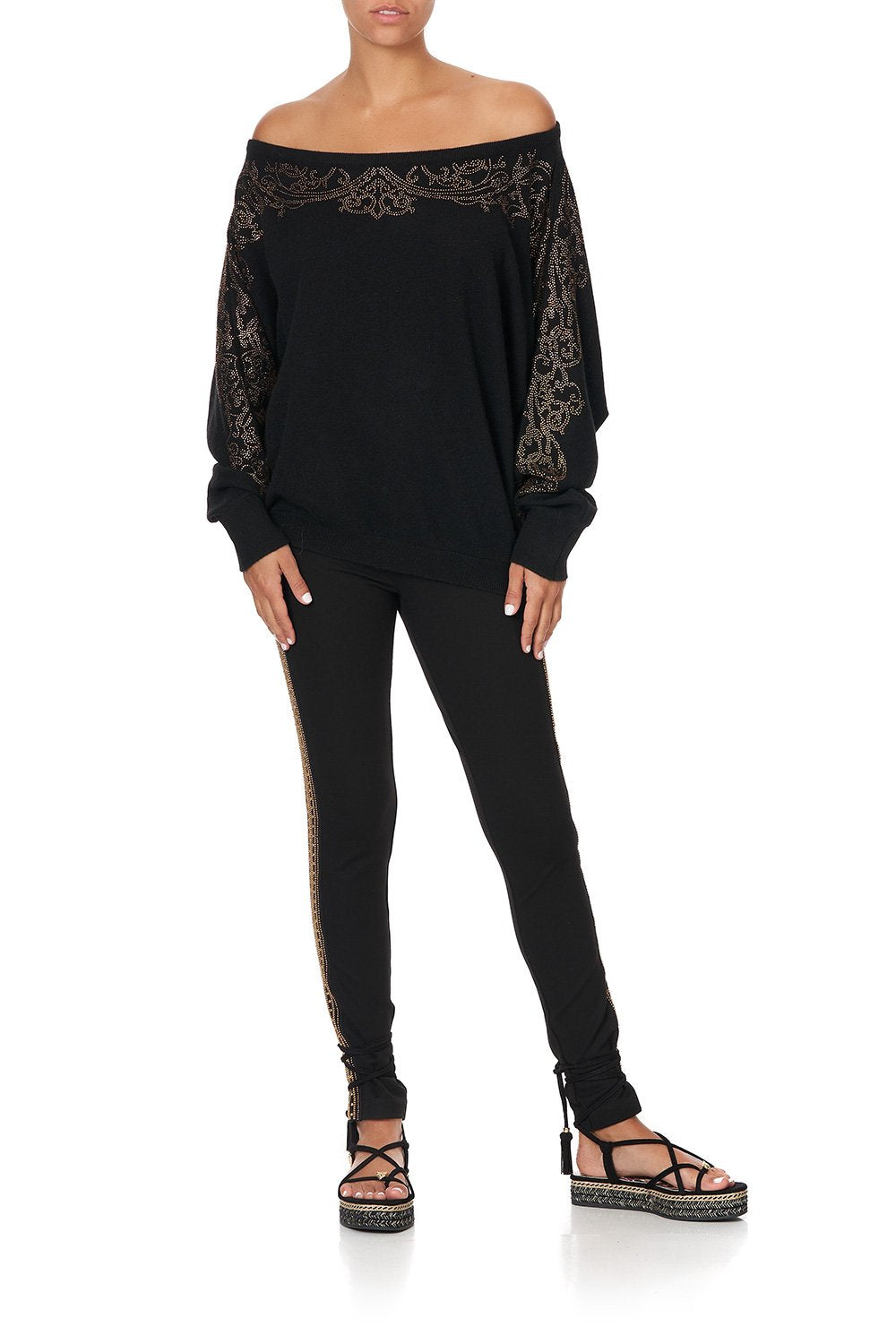 OFF THE SHOULDER DOLMAN KNIT JUMPER STUDIO 54