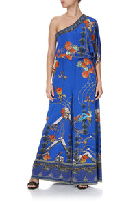 ONE SHOULDER FLARED JUMPSUIT TREE OF LIFE