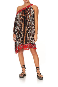 ONE SHOULDER SHORT KAFTAN PIRATE PUNK