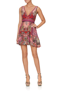 PANELLED SHORT DRESS LOTUS LOVERS