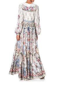 PEASANT DRESS WITH TIE FRONT SOUTHERN BELLE