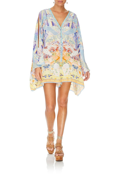 PLAYSUIT WITH SLEEVE SPLIT GIRL IN THE KIMONO