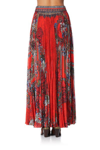 PLEATED FULL HEM SKIRT WONDERING WARATAH