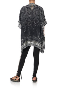 SHORT LACE UP KAFTAN MIDNIGHT PEARL