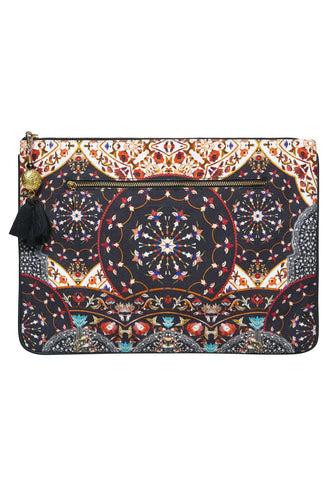 LARGE CANVAS CLUTCH CHAMBER OF REFLECTIONS
