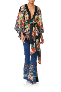 CAMILLA QUEEN OF KINGS KIMONO W EMBROIDERY INSERTS