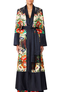 CAMILLA QUEEN OF KINGS KIMONO COAT WSPLITS