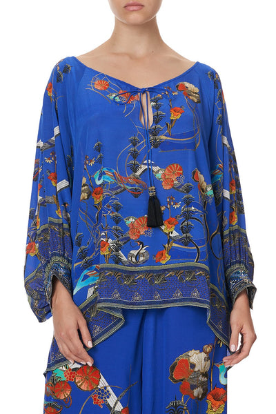 RAGLAN SLEEVE BLOUSE WITH CUFF TREE OF LIFE
