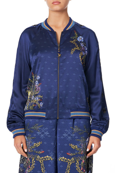 RAGLAN SLEEVE BOMBER JACKET SOUTHERN TWILIGHT