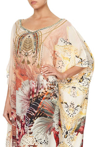 ROUND NECK KAFTAN COASTAL TREASURE