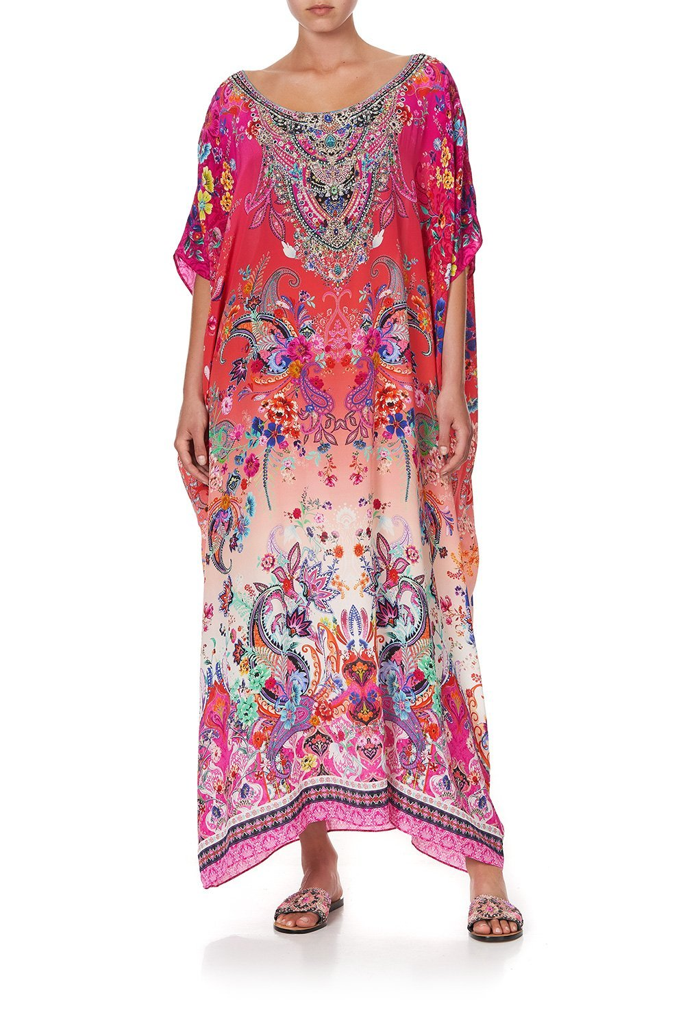 ROUND NECK KAFTAN FREE LOVE