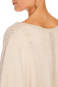 CAMILLA ROUND NECK PONCHO W/ FULL LINING TIME AFTER TIME