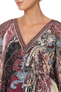 SHIRRED CUFF BLOUSE TALE OF THE FIRE BIRD