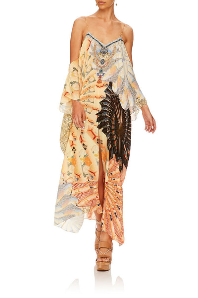 CAMILLA FOR THE FANS SHOESTRING STRAP KAFTAN
