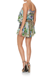 SHOESTRING STRAP PLAYSUIT MOON GARDEN