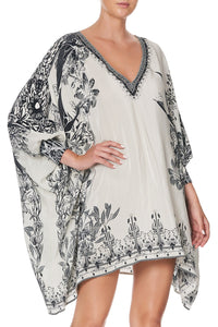 SHORT KAFTAN WITH CUFF SILVER LININGS
