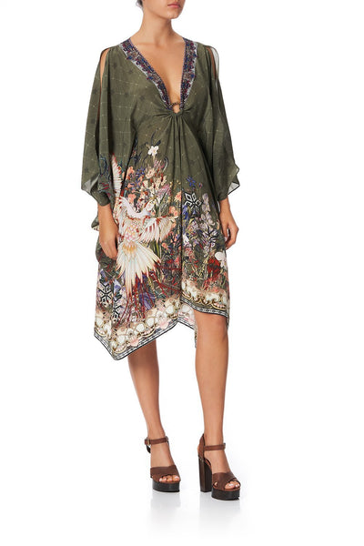 SHORT KAFTAN WITH HARDWARE WATCHFUL WINGS
