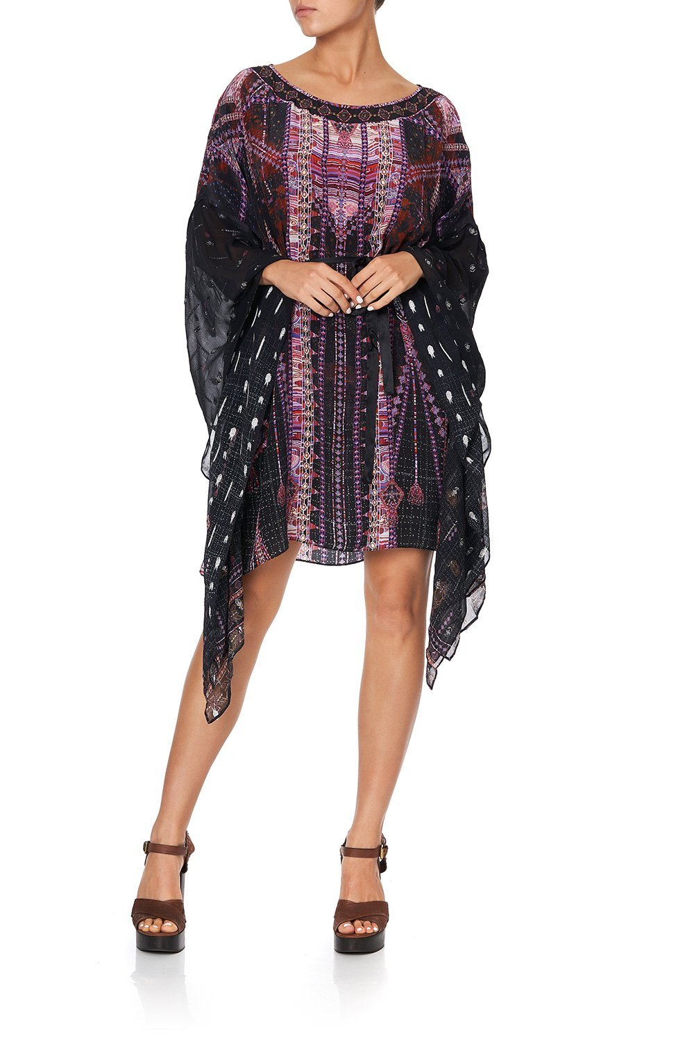 SHORT KAFTAN WITH SHEER SLEEVES MINA MINA