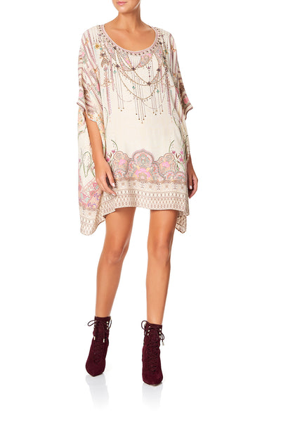CAMILLA SHORT ROUND NECK KAFTAN GOLDEN AGE