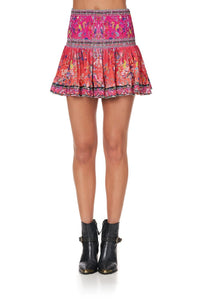 SHORT SHIRRED SKIRT FREE LOVE