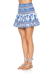 CAMILLA SHORT SHIRRED SKIRT SAINT GERMAINE