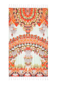SLICE OF PARADISE RECTANGLE TOWEL W FRINGING