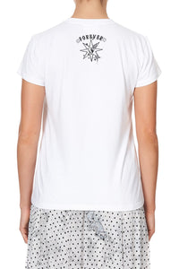 SLIM FIT ROUND NECK T-SHIRT MOONLIT MUSINGS