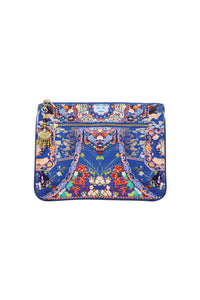 CAMILLA SATURN SISTER SMALL CANVAS CLUTCH
