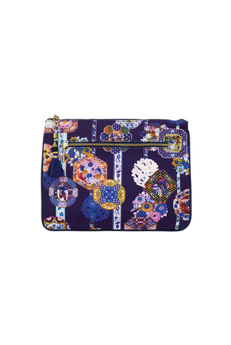 CAMILLA STAR GAZER SMALL CANVAS CLUTCH