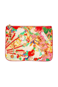 SMALL CANVAS CLUTCH KIMONO KISSES