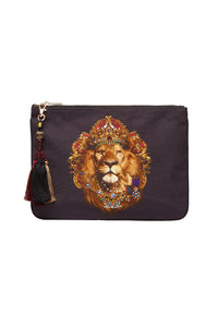 CAMILLA SMALL CANVAS CLUTCH KING LOUIS