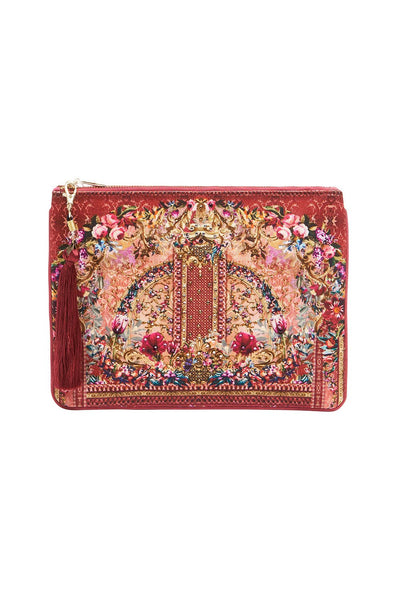 SMALL CANVAS CLUTCH LA BELLE