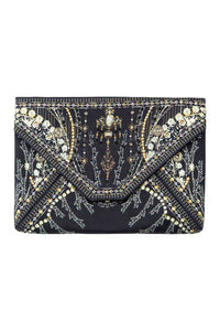 CAMILLA BLACK ENVELOPE CLUTCH