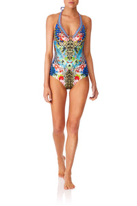 CAMILLA SPACE COWGIRL RING TRIM HALTER ONE PIECE