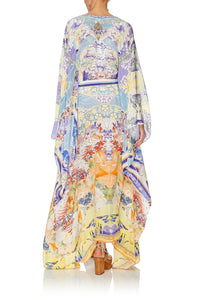 SPLIT HEM LACE UP KAFTAN GIRL IN THE KIMONO