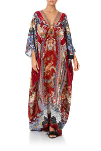 CAMILLA SPLIT SLEEVE KAFTAN W HARDWARE COSTUME PARTY