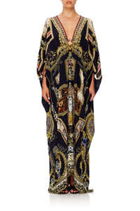 CAMILLA SPLIT SLEEVE KAFTAN WITH HARDWARE MIDNIGHT MEETING