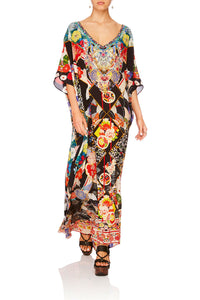 CAMILLA STAR GIRL V NECK KAFTAN