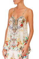 CAMILLA TIME AFTER TIME STRAP TOP W TIE FRONT DETAIL