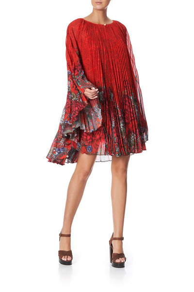 SUNRAY PLEATED SHORT KAFTAN WONDERING WARATAH