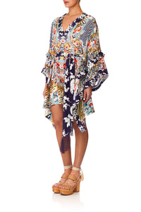 CAMILLA THE LONELY WILD DOUBLE LAYER KIMONO SLEEVE DRESS